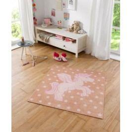 Hanse Home Dětský koberec Jednorožec, 100x100 cm - béžový