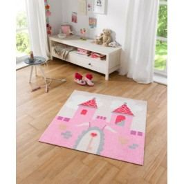Hanse Home Dětský koberec Zámek, 100x100 cm - růžový