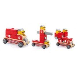 Djeco Dřevěné hasičské auto