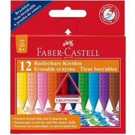 Faber-Castell Pastelky Plastic Colour Grip, 12 Barev