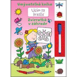 Učím sa kresliť - Zvieratká v záhrade: Umývateľná kniha
