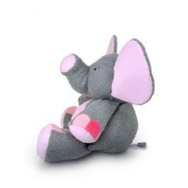 Plyšový slon Valda šedo - růžový 90cm