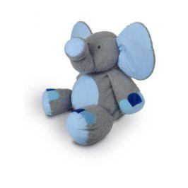 Plyšový slon Valda šedo - modrý 90cm