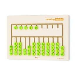 Viga Nástěnná dřevěná hra učíme se abecedu