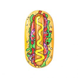 Bestway Nafukovací lehátko Hot Dog, 190x109 cm