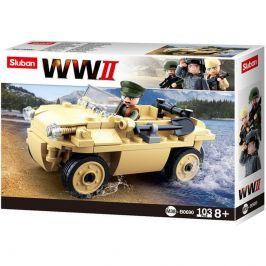 Sluban Sluban WW2 M38-B0690 Německý obojživelný vůz Schwimmwagen