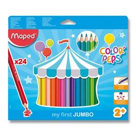 Alltoys Pastelky trojboké Maped Jumbo Color' Peps 24 ks,BL