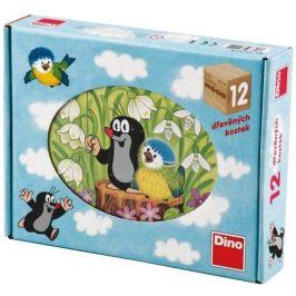 Dino Dino kostky krtek a ptáček 12 kostek