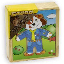 Studo Wood Šatní skříň - Pes dřevěná