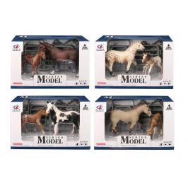 Alltoys EP Line Series Model Svět zvířat Sada 1 Kůň a hříbě tmavě hnědý koně