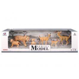 Alltoys Sada Model Svět zvířat rodina tygrů a srnečků, 6 zvířátek