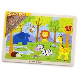 Alltoys Puzzle safari dřevěné 24 ks