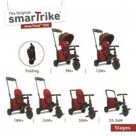 Alltoys Tříkolka Smart Trike 7 v 1 Smartfold 500 červená