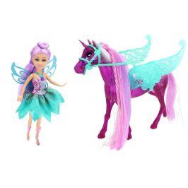 Alltoys Magický svítící jednorožec s vílou Sparkle Girlz