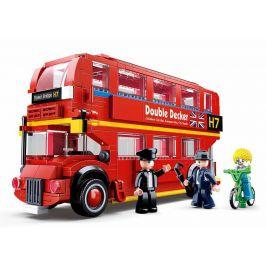 Alltoys Stavebnice Sluban - Londýnský dvoupodlažní autobus