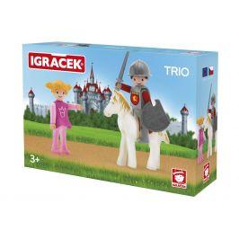 Igráček IGRÁČEK TRIO - Princezna, rytíř a bílý kůň
