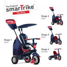 Alltoys Tříkolka Smart Trike 4 v 1 Shine červená