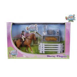 Alltoys Hrací sada jezdkyně s koněm