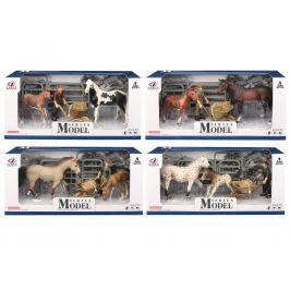 Alltoys EP Line Series Model Svět zvířat Sada 1 Kůň a hříbě s figurkou flekatí koně