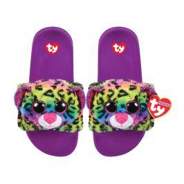 TY Ty Fashion přezůvky DOTTY - barevný leopard, velikost S