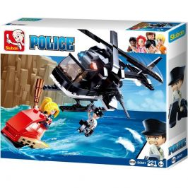 Sluban Sluban Policie M38-B0651 Helikoptéra a zlodějka na skútru