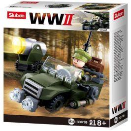 Sluban Sluban WW2 4into1 M38-B0678B Hlídkový Jeep